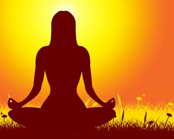 Yoga Pose Represents Body Exercise And Meditate
