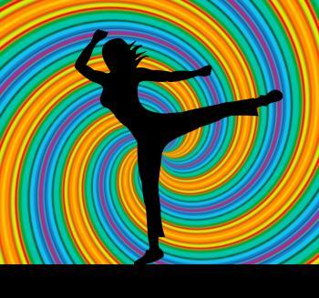 Yoga Pose Represents Harmony Balance And Zen