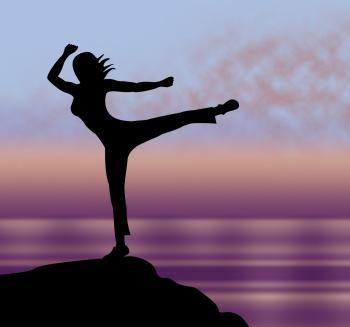 Yoga Pose Represents Relaxing Calm And Body