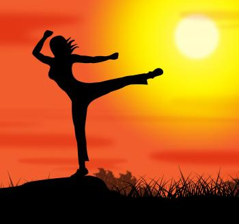 Yoga Pose Represents Wellbeing Relaxation And Spirituality