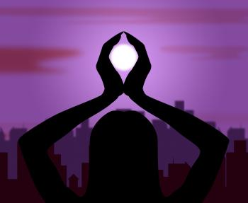 Yoga Pose Shows Feeling Health And Peace