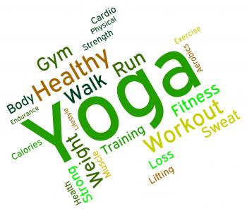 Yoga Word Means Healthy Meditating And Exercise
