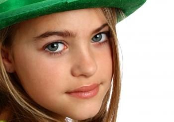 Young girl dressed for Saint Patrick's D