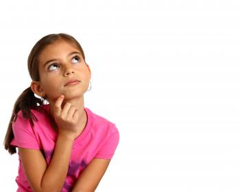 Young girl with a thoughtful expression
