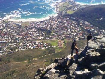 Young mountaineers at Table Mountain