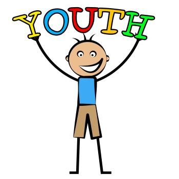 Youth Boy Indicates Kids Kid And Children