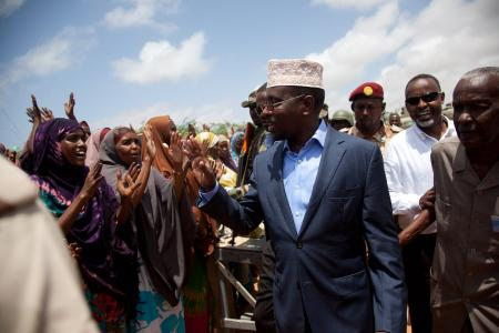 07/09/2011 Mogadishu - Mayor and President open new market area in Mogadishu