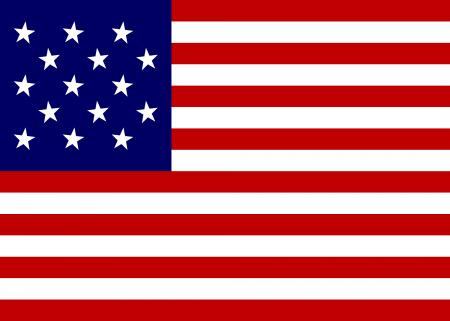 15 star United States flag