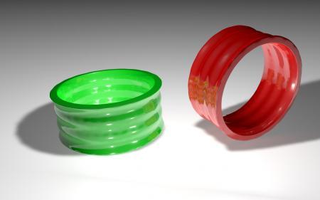 3D Rings Wallpaper