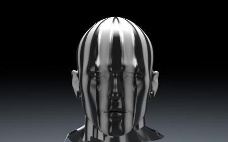 3D Sculpture of Man's Head