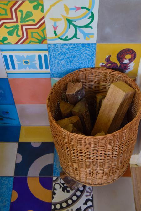 A basket of firewood