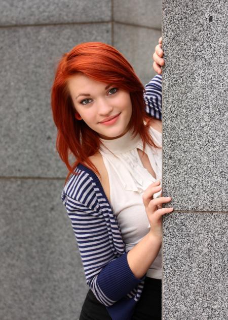 A beautiful young woman