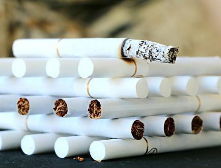 A bonfire of cigarettes