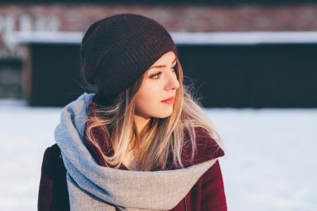 A girl winter portrait