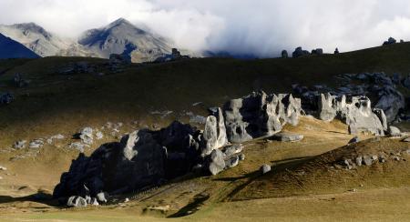 A high country landscape. NZ