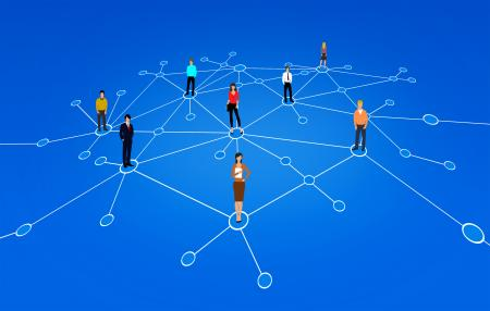 A Network of People - Business People - Abstract Illustration
