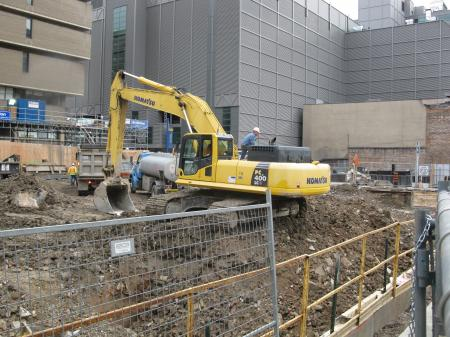 A Ryerson buiding being built on the site of the old Sam the Record Man -bz.JPG