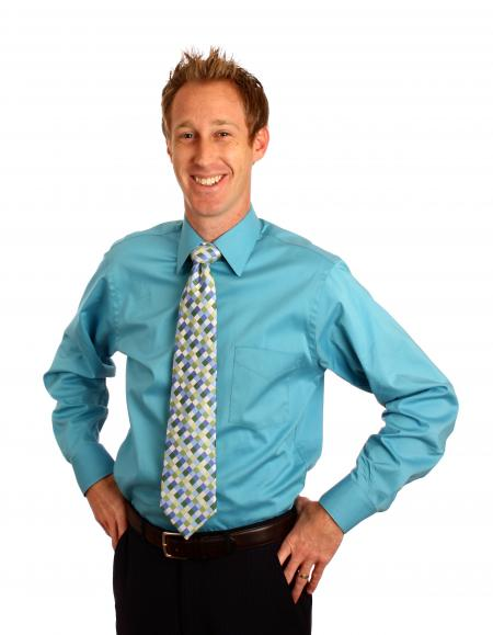 A young businessman in a tie
