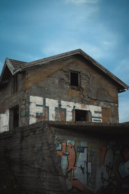 Abandoned House with Graffiti