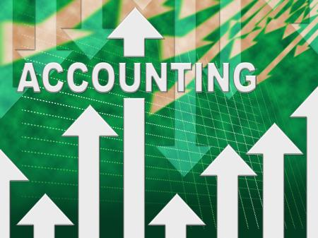 Accounting Graph Shows Paying Taxes And Accounts