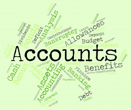 Accounts Words Indicates Balancing The Books And Accounting