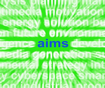Aims Word Means Purpose Direction And Goals