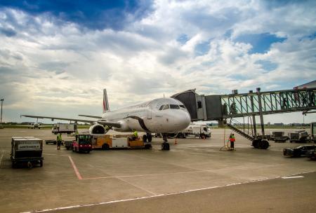 Air France Airbus A321 at Warsaw Chopin Airport