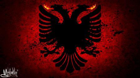 Albania Grunge Flag