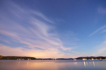 Blue sky evening