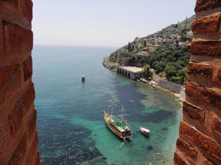 Ancient port of Alanya,Turkey