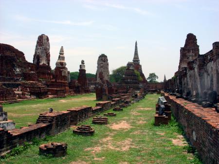 Ancient Siamese temple  ruins, Ayutthaya, Thailand
