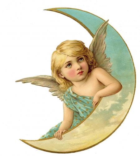 Angel on moon