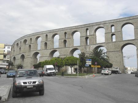 Aqueduct in Kavala, Greece