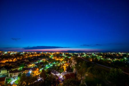Areal Photography of House during Night Time