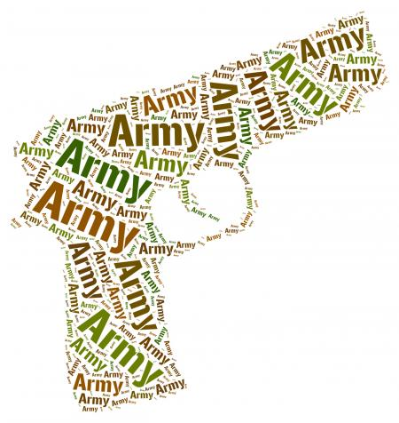 Army Word Indicates Armed Force And Armament