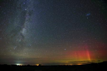 Aurora from the South Island of New Zealand
