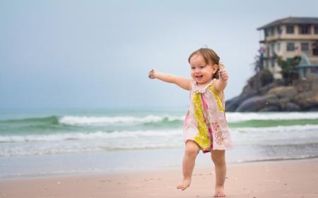 Baby running
