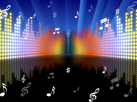 Background Music Represents Sound Track And Abstract