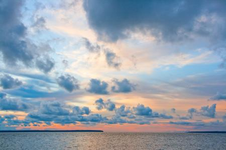 Baltic Sea and Cloudy Sky