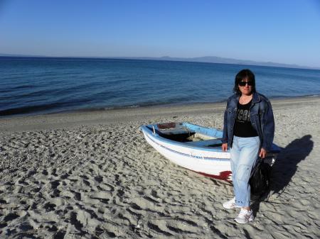 Beach of the Aegean coast