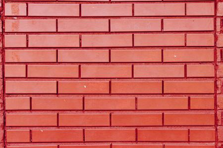 Beautiful bright red brick wall