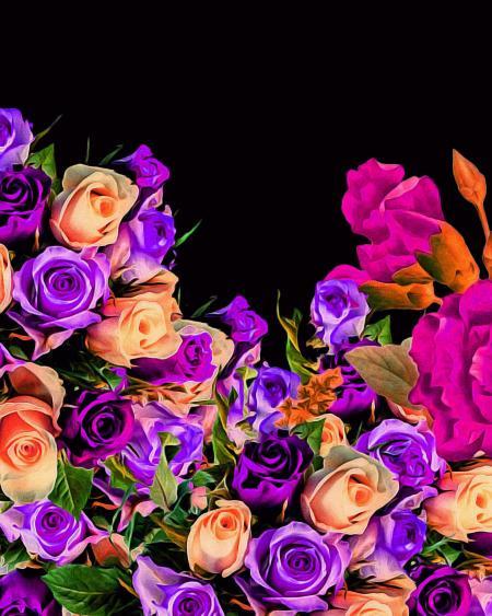 Beautiful Vibrant Floral Design
