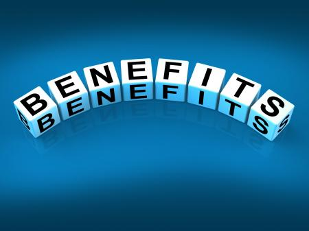 Benefits Blocks Mean Perks Awards and Merits