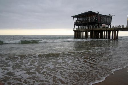 Big pier on the beach