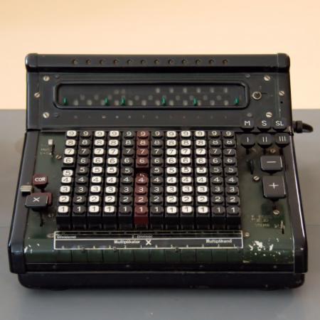 Black and Gray Vintage Cash Register