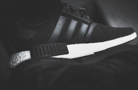 Black and White Adidas Sneakers