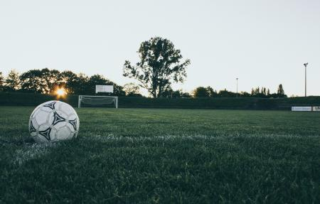 Black and White Soccer Ball on Green Grass Land during Daytime