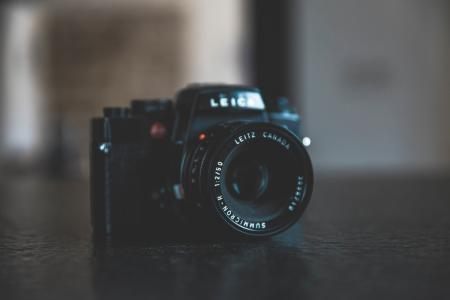 Black Bridge Camera on Black Surface