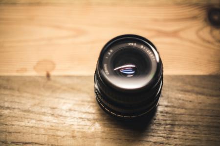 Black Fish Eye Lens