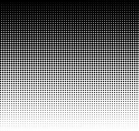 Black halftone dots on white